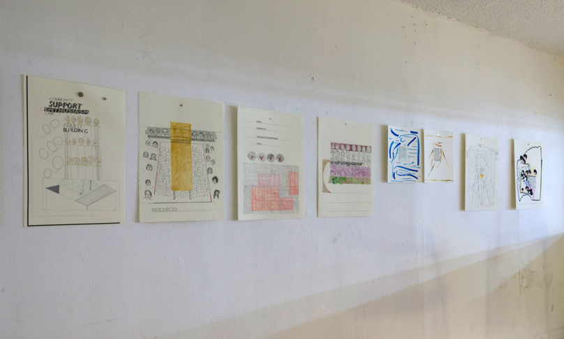Installation of Sensory Drawings
